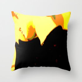 Ghost Of Elvis Throw Pillow