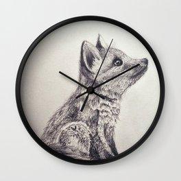 Fox Pup Wall Clock