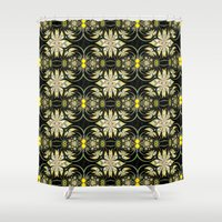 henna Shower Curtains featuring Henna Heaven by Jim Pavelle