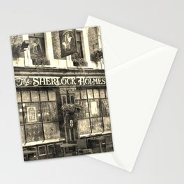 The Sherlock Holmes pub Vintage Stationery Cards