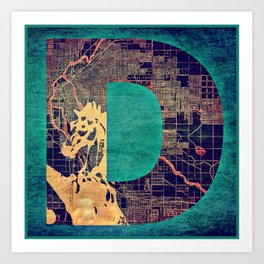 D for Denver Art Print
