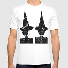 Two Witches Mens Fitted Tee White MEDIUM