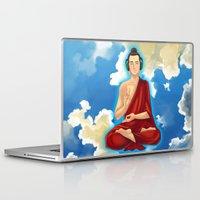 buddah Laptop & iPad Skins featuring Adeptu Buddah by Conversa entre Adeptus