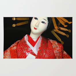 Oiran in Red Rug