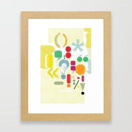 Punctuaction Framed Art Print