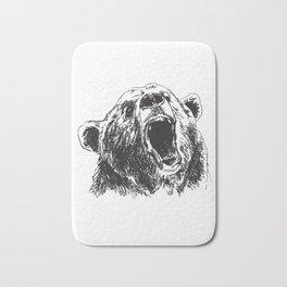 Sketch head bear Bath Mat