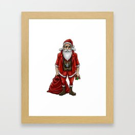 Hipster Santa Claus | Christmas Style Cool Fashion Framed Art Print
