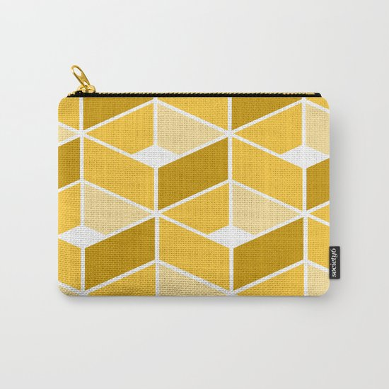 Simple Pattern Yellow Carry-All Pouch