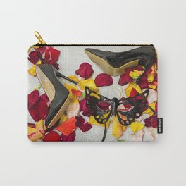 After masquerade - shoes, mask and rose petals Carry-All Pouch