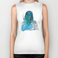 mia wallace Biker Tanks featuring Mia  by Albert F. Montoya
