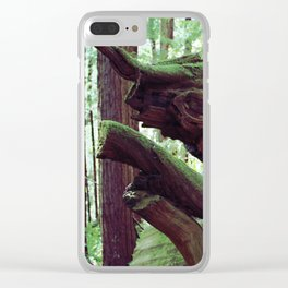 Red Wood Rhino Clear iPhone Case