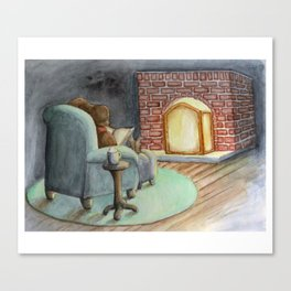 Cozy House Mouse Canvas Print