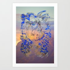 Smiling Mountain Art Print