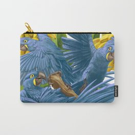 Hyacinth macaws and bananas Stravaganza. Carry-All Pouch