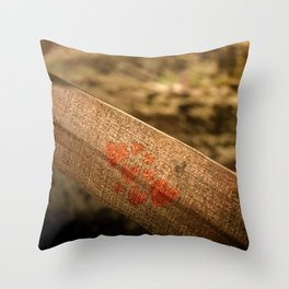 In particular wood Throw Pillow