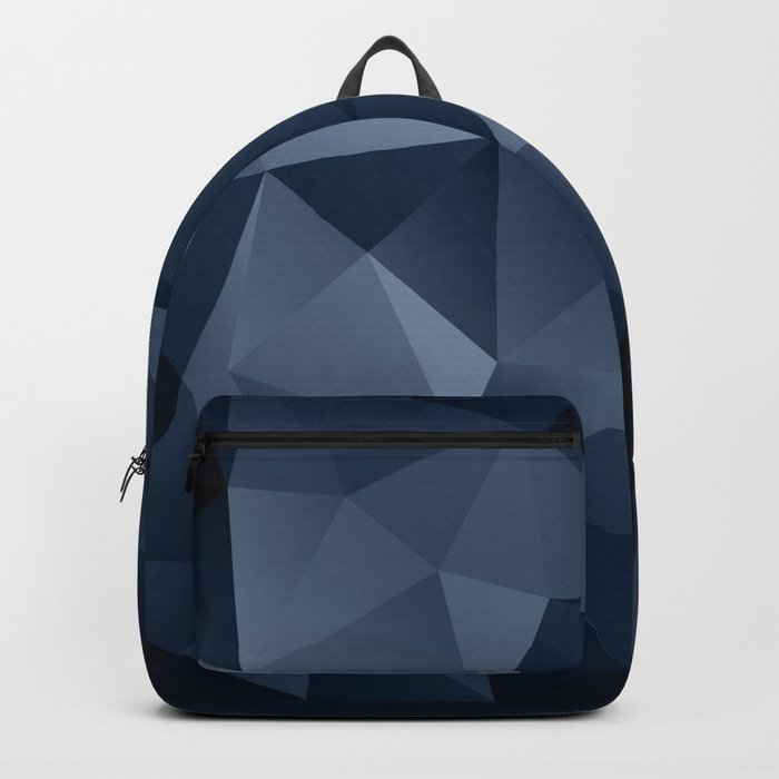 Black and blue polygonal pattern . Backpack