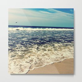 Waves At Jones Beach Metal Print
