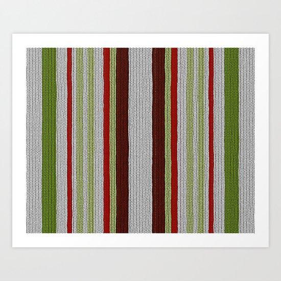 Knitted Colors - Digital Work Art Print