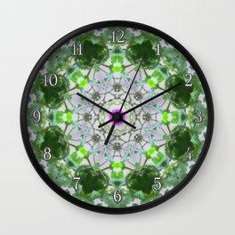 Purple Wildflower Kaleidoscope Art 8 Wall Clock