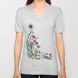 Pothead Flowers Unisex V-Neck