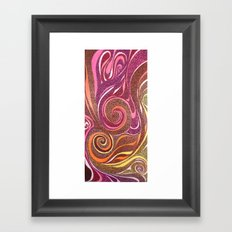 Waves in Red Framed Art Print