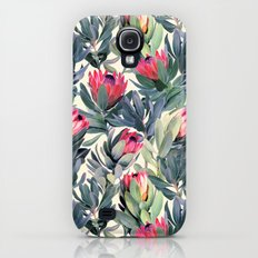 Painted Protea Pattern Galaxy S4 Slim Case