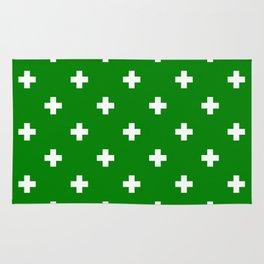 Swiss cross pattern on green Rug