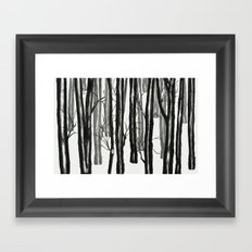 wood and snow  Framed Art Print