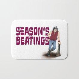 Season's Beatings Bath Mat