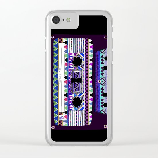 Mix Tape # 10 Clear iPhone Case