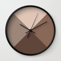 pyramid Wall Clocks featuring Pyramid by Espenbke