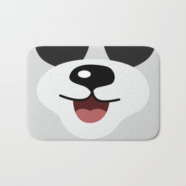Cute Lovely Panda Cartoon Smile Face Kids Bath Mat