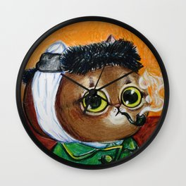 the portrait of kitty van gogh Wall Clock