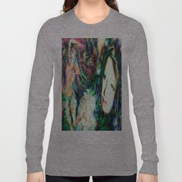 NUDE BELLY DANCER WITH LADY KASHMIR ART PRINT PHOTOGRAPHY PAINTING  Long Sleeve T-shirt