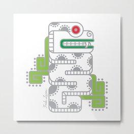 Koru-Fern Serpent Metal Print
