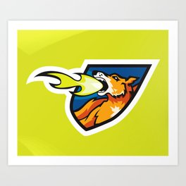 Fire Breathing Rowdys Logo Art Print