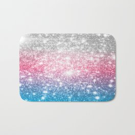 Galaxy Sparkle Stars Cotton Candy Bath Mat