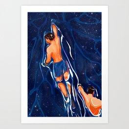 The Swim Back Art Print