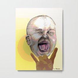 Rocking Baby Metal Print