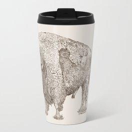 Grandpa Bison  Travel Mug
