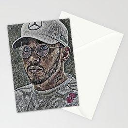Lewis Hamilton Artistic Illustration Bubble Wrap Style Stationery Cards