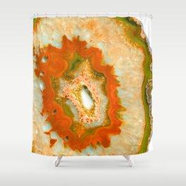 Orange Green Agate #1 #gem #decor #art #society6 Shower Curtain