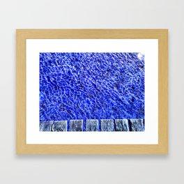 Water blue, Annecy Framed Art Print