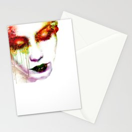 Melancholy in watercolor Stationery Cards