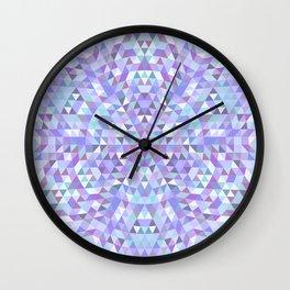 Cold triangle mandala Wall Clock