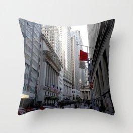 New York city street view Throw Pillow