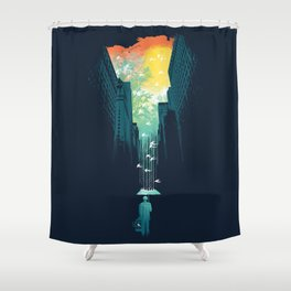 I Want My Blue Sky Shower Curtain