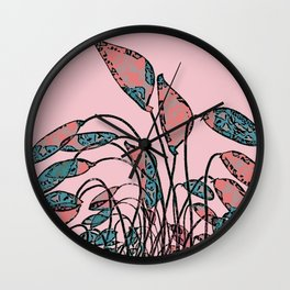 Camouflage Foliage Wall Clock