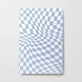 Checker Warp Metal Print
