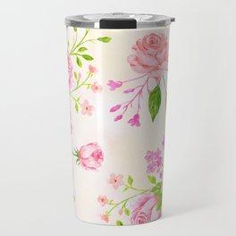 English Rose Pattern 02 Travel Mug